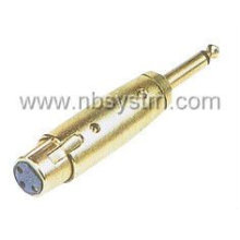 Microfone 3P para adaptador de placa mono de 6,35 mm