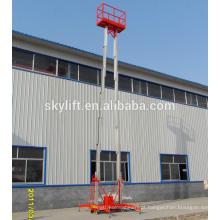 Plataforma de trabalho aéreo plataforma de elevação hidráulica com dois mastros telescópica escada elétrica