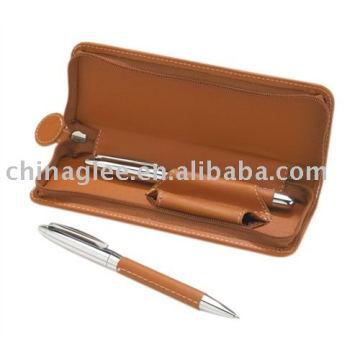 кожаный набор ручка