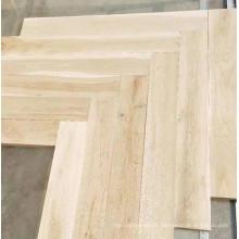 light gray natural color herringbone parquet oak flooring