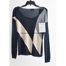 Jersey de manga larga de lana jersey de punto
