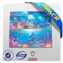 Factory Printing High Quality Collection 3D Aquarium Tickets