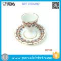 Copa de ovo de belo padrão decorativo vintage com Base