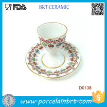 Vintage hermoso patrón decorativo taza de huevo con base