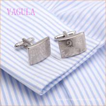 VAGULA Fashion Rhodium Plated Copper Laser Wedding Cufflink