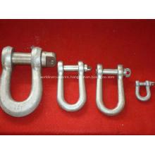 Bolt type anchor shackle