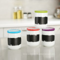ceramic tea coffee canister with silicone lid,