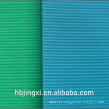 Green Blue Thin Ribbed Insulation Rubber Sheet