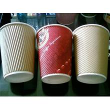 Tasse de café de papier chaud d'ondulation