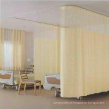 Cortina del hospital, cortinas de la cama del hospital, cortina del cubículo del hospital tela