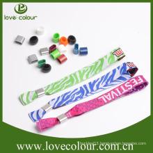Guangzhou Manufacturer Custom Fabric Wristbands/Fabric Festival Wristbands With Custom Logo
