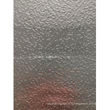 prix d'usine pour la feuille ou la bobine d'aluminium de stucco utilisant sur la boîte de collerette ou le récipient frais