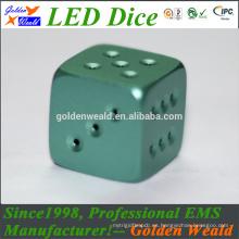 Rojo verde azul LED iluminación MCU control colorido LED oro-platear dados
