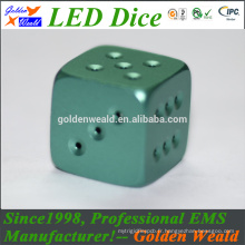 LED rouge vert bleu d'éclairage MCU contrôle coloré LED plaqué or dés