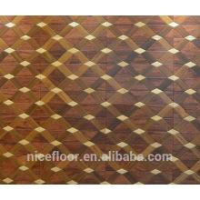 Revestimento de pisos em madeira maciça em camadas N24 TEAK MAPLE PARQUET FLOOR