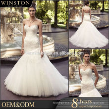 High Quality Custom Made wedding dresses with feather