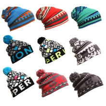 Mode Jacquard Acryl Gestrickte Winter Warme Ski Sport Hüte (YKY3137-1)