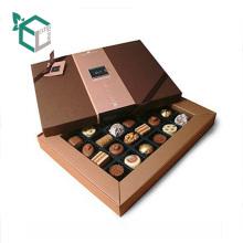 Caja de empaquetado del chocolate del caramelo del papel de impresión de la caja de lujo con la tapa