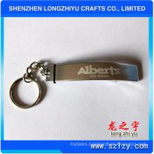 Bottle Opener Keychain Simple Design Metal Logo Laser Keychain