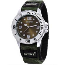 SKONE 6157 cheap wristwatch nylon watch for teenagers
