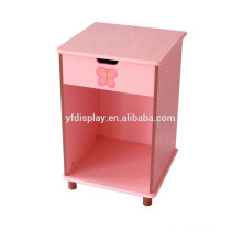 Pink wooden display holder with drawer