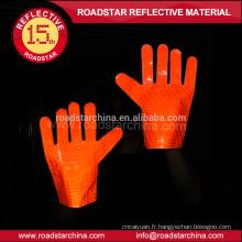 2 couleurs réfléchissantes gant de trafic disponibles