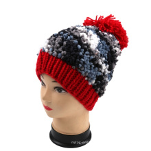 OEM New Design Knit Fancy Yarn Hand Knit Adult Bucket Hat Beanie