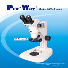 Microscópio estereofônico profissional de Zoom 6.7X-45X (ZTX-PW6745)
