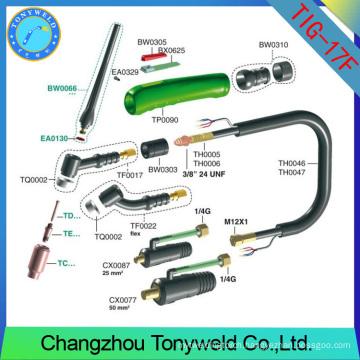 weldcraft WP-17F flexible head torch body TIG welding torch