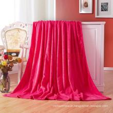 Cobertor de lã / flanela de flanela de cor sólida