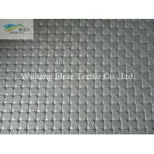Черно мелкая сетка тиснением PU кожа ткань/искусственная PU кожа ткань