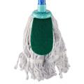 Fregona de limpieza de alta calidad fregona de cabeza redonda blanca 100% algodón foolr mop
