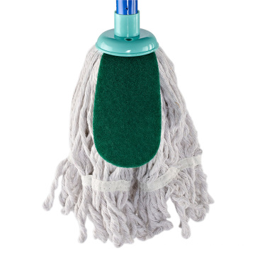 High quality cleaning refill mop round head white 100% cotton foolr mop