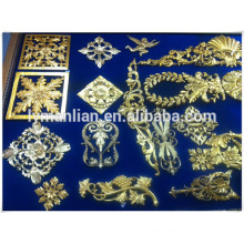 carved wood molding/crown wood mouldings/furniture use decor resin flower