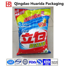 Plastic Center Seal Washing Powder Pouch with Colorful Printing