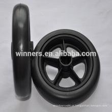 Roda de carrinho de bebê de plástico de 6 polegadas de largura