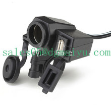 Motorcycle Cigarette Lighter USB Socket Charger