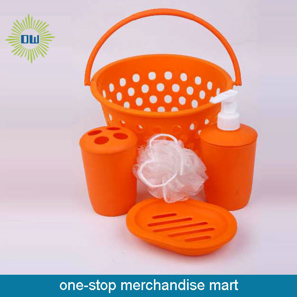 traveling bath product set ORANGE