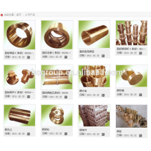 productos de fundición de cobre del barril de cobre de la polea de cobre del anillo de cobre de la rueda de cobre