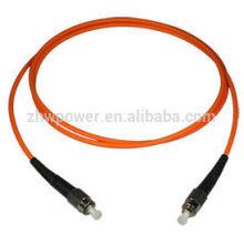 Cable de interconexión de fibra multimodo ST estándar de telecomunicaciones, puente de cable óptico