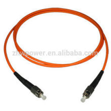 Telecommunication standard ST multimode fiber patch cord ,optical cable jumper