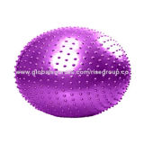 Yoga Ball with Strap Handle, Made of PVC, Easy to Carry and Remove