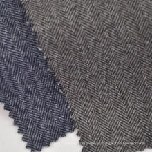 Disponible en tela de tela escocesa de lana de poliéster para chaqueta y abrigos de invierno