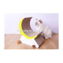 Approvisionnement d'usine de mode en carton ondulé chat pour animaux de compagnie scratcher salon jouets durable en carton chat grattoir CT-4049