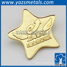 gold frosted pin badge