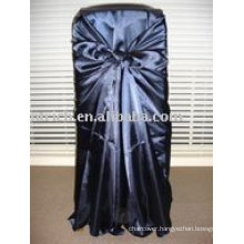 Satin fabric chair cover,navy satin bag chair cover, chair cover sash,hotel chair cover