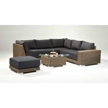 Muebles de mimbre jardín salón rota al aire libre Set de sofá de Patio