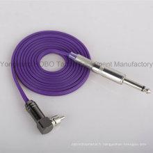 Clipcord en caoutchouc de silicone de tatouage de haute qualité avec 1/4 '' Plug