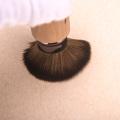 Single wood handle make up brush set