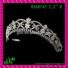 Nouveau design en gros, tiare de mariage, une couronne princesse une tiare